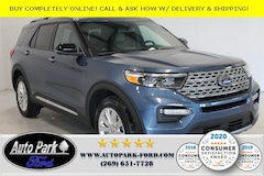 New 2020 Ford Explorer Limited SUV 1FMSK8FH2LGB73301 for sale in Bremen, IN