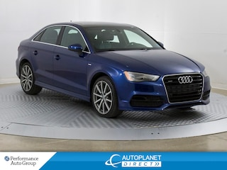 2015 Audi A3 Quattro, Technik, S-Line, Navi, Sunroof! Sedan