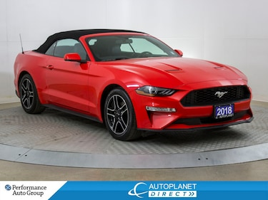 2018 Ford Mustang Ecoboost Premium, Navi, Back Up Cam, Heated Seats! Convertible