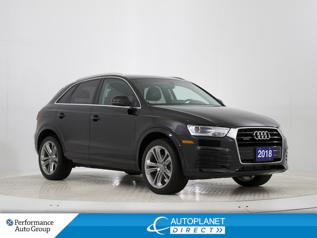 2018 Audi Q3 2.0T Quattro, Progressiv, Back Up Cam, Bluetooth! SUV