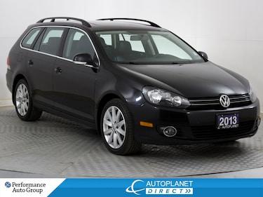 2013 Volkswagen Golf TDI, Highline, Navi, Sunroof, Leather! Wagon