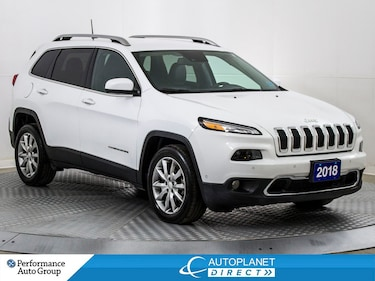2018 Jeep Cherokee Limited 4x2, SafetyTec+Tech+Luxury Grp! SUV