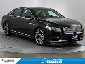 2017 Lincoln Continental Reserve AWD, Navi, Memory Seat, Apple CarPlay!