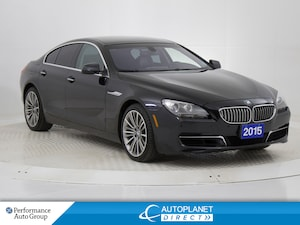 2015 BMW 650i Gran Coupe Sedan xDrive, Navi, Back Cam, Moon Roof!