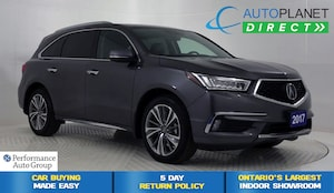 2017 Acura MDX AWD, Elite Pkg, Navi, DVD, Surround View Cam!