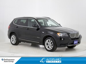 2013 BMW X3 xDrive 28i, Navi, Pano Sunroof, Bluetooth!