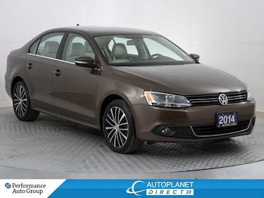 2014 Volkswagen Jetta TDI, Highline, Back Up Cam, Sunroof! Sedan