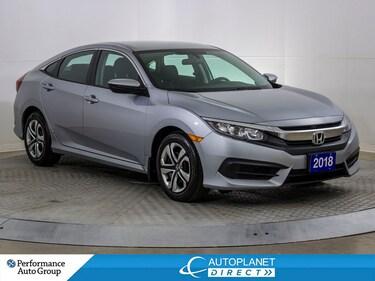 2018 Honda Civic LX, Back Up Cam, Heated Seats, Bluetooth! Sedan