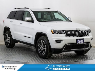 2018 Jeep Grand Cherokee Limited 4x4, Navi, Back Up Cam, Apple CarPlay! SUV