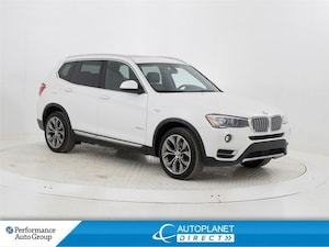 2016 BMW X3 xDrive28d, Navi, Back Up Cam, Sunroof, Bluetooth!