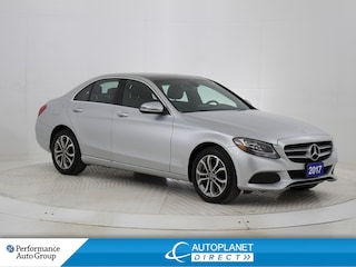 2017 Mercedes-Benz C-Class 4MATIC, Premium Pkg, Navi, Pano Roof! Sedan