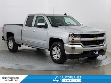 2018 Chevrolet Silverado 1500 1LT 4X4, Back Up Cam, Alloys, Bluetooth! Truck Double Cab