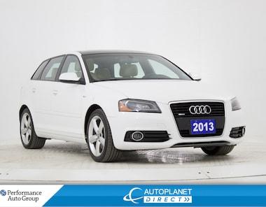 2013 Audi A3 2.0T Quattro, Progressiv, Heated Seats, Bluetooth! Sportback