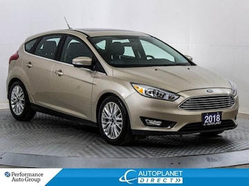 2018 Ford Focus Titanium, Back Up Cam, Sunroof, Remote Start! Hatchback