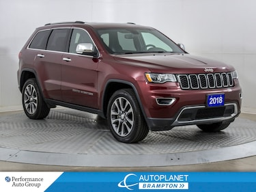2018 Jeep Grand Cherokee Limited 4X4, Navi, Sunroof, $126/Week! SUV