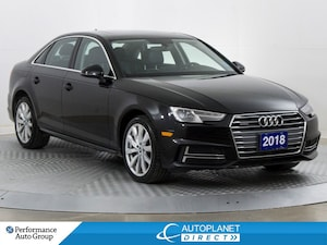 2018 Audi A4 Quattro, Komfort+, Sunroof, Audi Smart Phone!