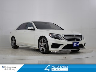 2014 Mercedes-Benz S-Class S63 AMG 4MATIC, Navi, Back Up Cam, Pano Roof! Sedan