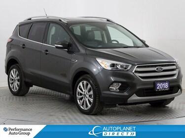 2018 Ford Escape Titanium AWD, Navi, Pano Roof, Heated Seats! SUV