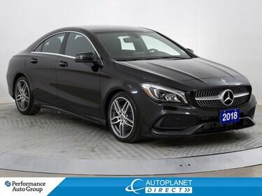 2018 Mercedes-Benz CLA 250 4MATIC, Premium Sports Pkg, Heated Seats! Sedan