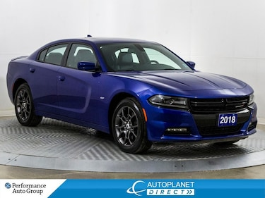 2018 Dodge Charger GT AWD, Sunroof, Remote Start, Leather! Sedan