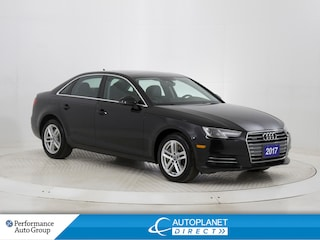 2017 Audi A4 2.0T Quattro, Komfort+, Sunroof, Lighting Pkg! Sedan
