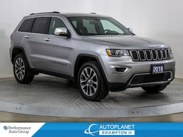 2018 Jeep Grand Cherokee Limited 4x4, Navi, Android Auto, Parking Sensors! SUV