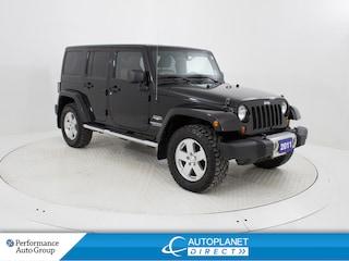 2011 Jeep Wrangler Unlimited Sahara 4x4, Navi, 2 Roof Tops, Running Boards! SUV