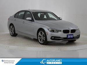 2018 BMW 330i xDrive, Navi, Back Up Cam, Sunroof, Bluetooth!