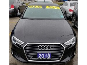 2018 Audi A3 2.0T Komfort, Sunroof, Heated Seats, Bluetooth!