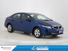 2014 Honda Civic LX, Heated Seats, Bluetooth, Clean Carproof! Sedan