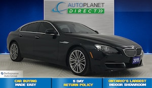 2015 BMW 650i Gran Coupe Sedan xDrive, Navi, Back Up Cam, Moon Roof!