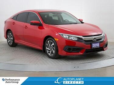 2018 Honda Civic EX, Back Up Cam, Sunroof, HondaLink, Alloys! Sedan