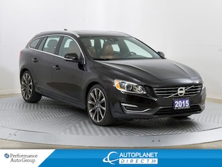 2015 Volvo V60 T6 AWD, Sunroof, Heated Seats, Ontario Vehicle! Wagon