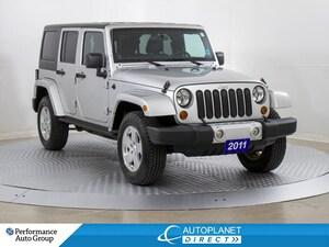 2011 Jeep WRANGLER UNLIMITED Sahara 4x4, Navi, Heated Seats, Soft Top!