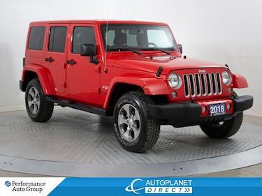 2018 Jeep Wrangler Unlimited Sahara, 4x4, Navi, Remote Start! SUV