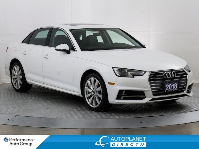 2018 Audi A4 Quattro, Komfort+, Sunroof, Audi Music Interface! Sedan