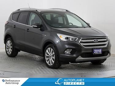 2018 Ford Escape Titanium AWD, Navi, Back Up Cam, Heated Seats! SUV