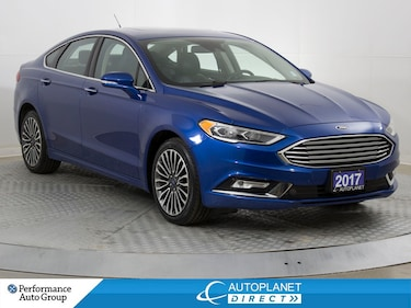 2017 Ford Fusion AWD, Titanium, Navi, Heated/Cooled Seats, Leather! Sedan