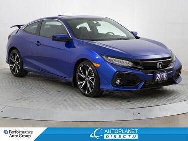 2018 Honda Civic SI, Navi, Back Up Cam, Sunroof, Bluetooth! Coupe
