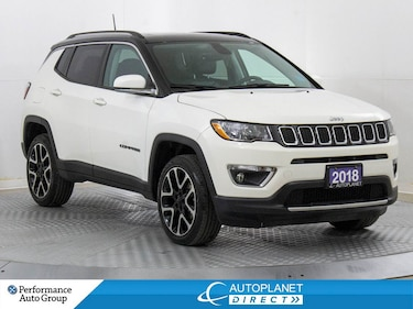 2018 Jeep Compass Limited 4x4, Navi, Back Up Cam, Remote Start! SUV