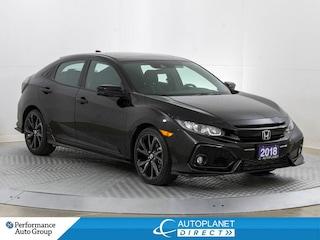 2018 Honda Civic Sport, Honda Sensing, Sunroof, Back Up Cam! Hatchback