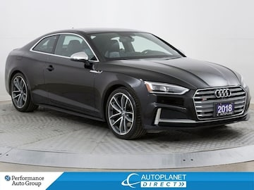 2018 Audi S5 3.0T Quattro, Driver Assist Pkg, Navi, Sunroof! Coupe