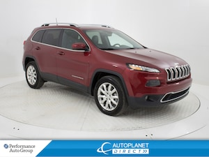2017 Jeep Cherokee Limited 4x4, Navi, Back Up Cam, Tonneau Cover!