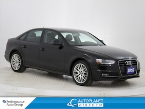 2016 Audi A4 2.0T Quattro, Komfort, Sunroof, Heated Seats!