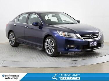 2015 Honda Accord Sport, Back Up Cam, Sunroof, Bluetooth! Sedan