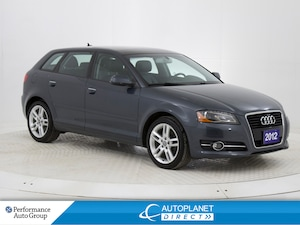 2012 Audi A3 2.0T Progressiv, Sunroof, Heated Seats, Bluetooth!