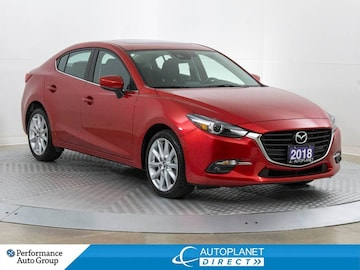 2018 Mazda Mazda3 GT, Back Up Cam, Moon Roof, Leather! Sedan