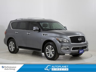 2017 INFINITI Qx80 AWD, Navi, Sunroof, 360 Cam, DVD, Remote Start! SUV