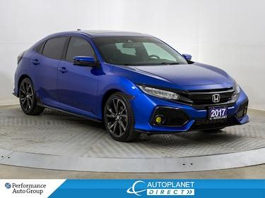 2017 Honda Civic Sport Touring, Navi, Back Up Cam, Sunroof! Hatchback