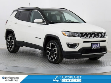 2018 Jeep Compass Limited 4x4, Navi, Remote Start, Android Auto! SUV